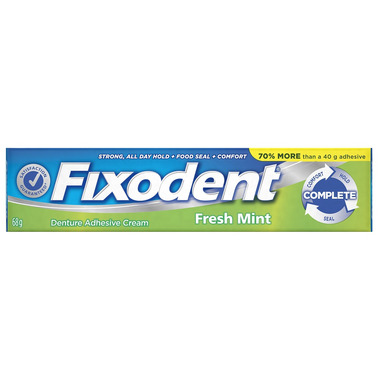 Fixodent Complete Fresh Mint Denture Adhesive Cream