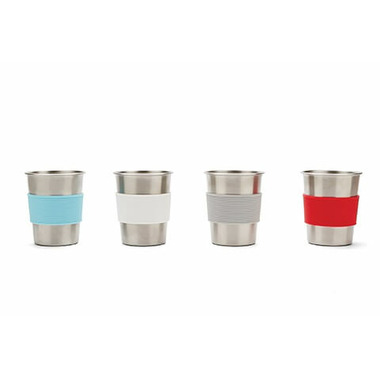 Red Rover Stainless Steel Cups with Silicine Sleeves