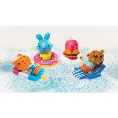 Sago Mini BPA/Mold Free Easy Clean Bath Squirters and Floaties Gift Pack