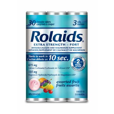 Rolaids Extra Strength Tablets Assorted Fruit