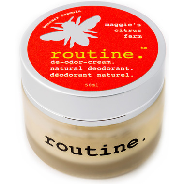 Routine De-Odor-Cream Natural Deodorant in Maggie\'s Citrus Farm Scent