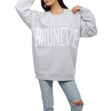 Brunette The Label Big Sister Brunette Crew Pebble Grey
