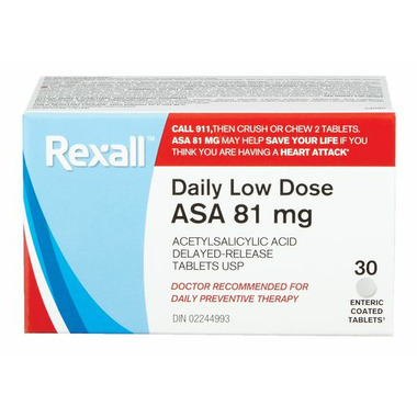 Rexall A.S.A Low Dose Enteric Coated 81mg