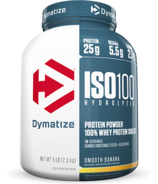 Dymatize Nutrition ISO100 Hydrolyzed Whey Protein Smooth Banana 5 lbs