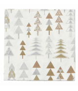 Harman Geo Christmas Tree Printed Cocktail Napkin