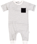 Miles Baby Black & White Striped Playsuit