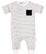 Miles Baby Black & White Striped Playsuit 3M-24M