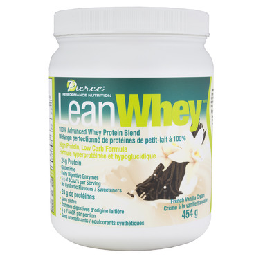 Pierce Performance Nutrition LeanWhey Protein Powder French Vanilla