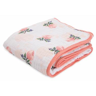 Little Unicorn Cotton Muslin Quilt Watercolour Rose