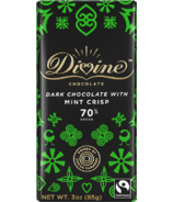 Divine Chocolate Dark Chocolate with Mint 70% Cocoa