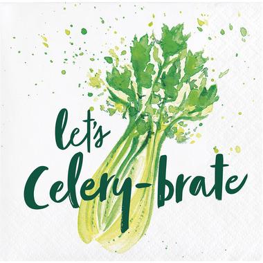 Elise Garden Humor 3 Ply Beverage Napkins Celery