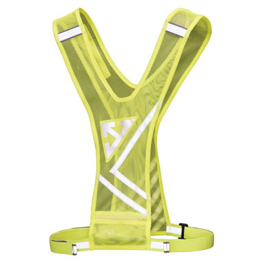 Nathan Sports Bandolier Safety Vest Safety Yellow
