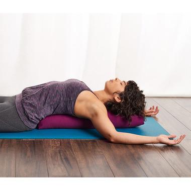 Halfmoon Prana Yoga Bolster Charcoal Ikat