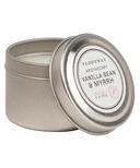 Paddywax Blue Apothecary Travel Tin Vanilla Bean & Myrrh Candle