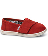 TOMS Tiny Classic Alpargatas Red Canvas