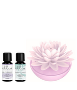 Ellia Porcelain Calm Waters Essential Oil Diffuser and Essential Oil Bundle