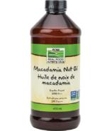 Huile de noix de macadamia NOW Foods