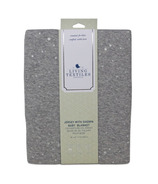 Living Textiles Jersey Blanket With Sherpa Grey Metallic Stars