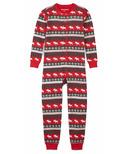 Hatley Fair Isle Moose Kids Union Suit