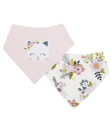 Kushies Bandana Bib Pink Kitty
