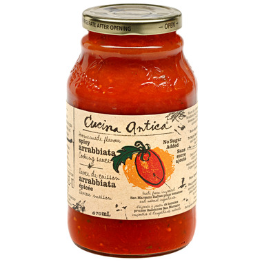 Cucina Antica Spicy Arrabbiata Pasta Sauce