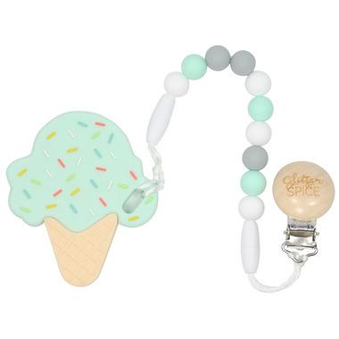 Glitter & Spice Ice Cream Cone Teether