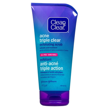 Clean & Clear Acne Triple Clear Exfoliating Scrub Gel