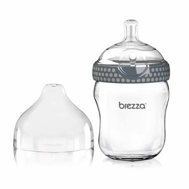 Baby Brezza Large Glass Bottle Grey