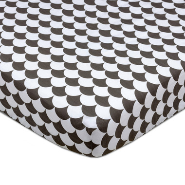Lolli Living Fitted Sheet Kayden Black Scallops
