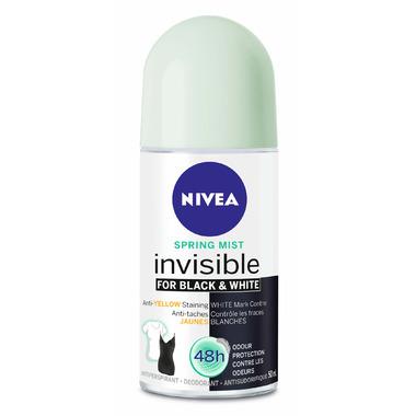 Nivea Invisible for Black & White Antiperspirant Roll-On Spring Mist
