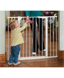 KidCo Tall & Wide Auto Close Gateway White