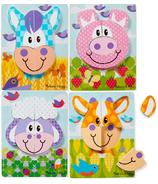 Melissa & Doug Farm Animals Wooden Chunky Jigsaw Puzzle Toddler