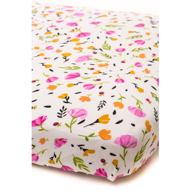 Little Unicorn Cotton Muslin Fitted Sheet Berry & Bloom
