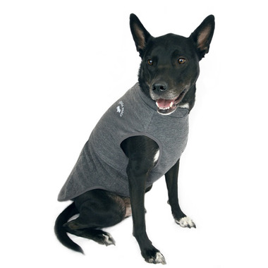 Canada Pooch Rocky Ridge Back-Zip Vest in Grey Melange Size 22