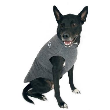 Canada Pooch Rocky Ridge Back-Zip Vest in Grey Melange Size 14+