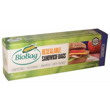 BioBag Resealable Sandwich Bags