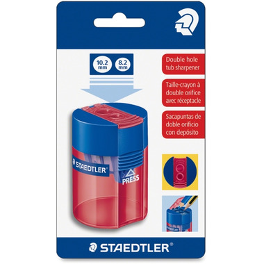 Staedtler Double-Hole Tub Pencil Sharpener