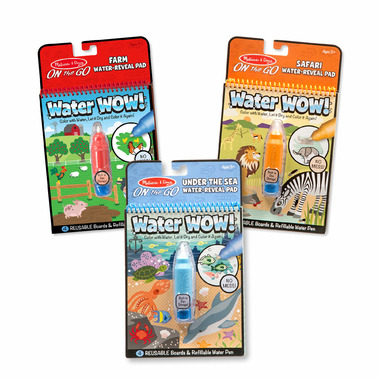 Melissa & Doug Water WOW! Farm, Safari & Under The Sea Bundle