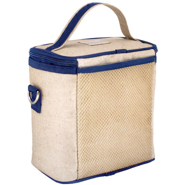 SoYoung Raw Linen Blue Bicycle Large Cooler Bag