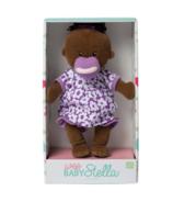 Manhattan Toy Wee Baby Stella Brown Doll With Black Hair