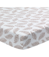 Lambs & Ivy Separates Taupe Leaves Print Sheet
