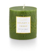 Illume Balsam Etched Pillar Candle