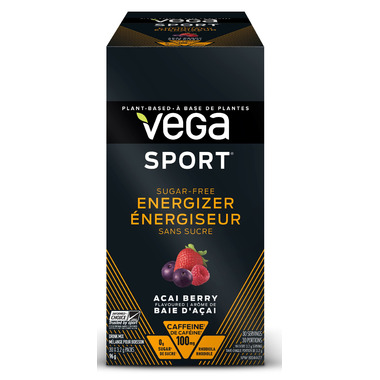 Vega Sport Sugar-Free Energizer Singles Box Acai Berry
