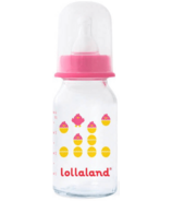 Lollaland Glass Baby Bottle Small Pink