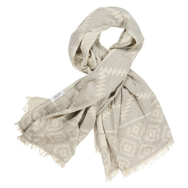 Lualoha Turkish Towel Luxury Tribe Light Grey