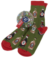 Little Blue House Men's Socks in Ornament Beer Bottles