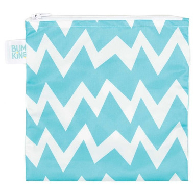 Bumkins Reusable Snack Bag Large Blue Chevron