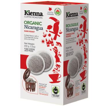 Kienna Coffee Roasters Nicaragua Coffee Pods