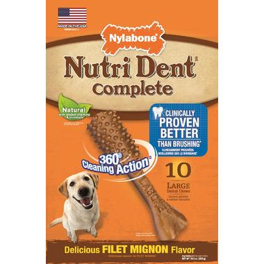 Nutri Dent Complete Dental Filet Mignon Large Size 10 Pack