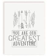 mavisBLUE You Are Our Greatest Adventure Print
